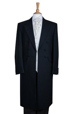 Ex Hire Mens Grey Frock Coat Wedding Frockcoat Long Jacket 36 38 40 42 44 46