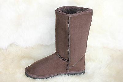 Ugg Boots Tall, Synthetic Wool, Colour Chocolate, Size 10 Lady's/Size 8 Mens