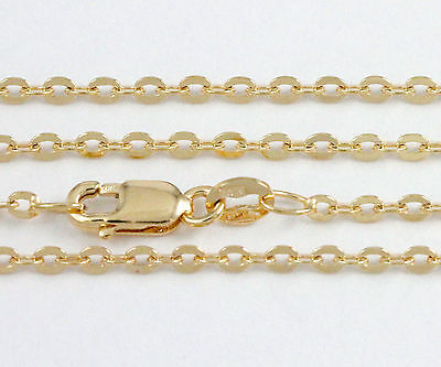 """16-24"""" 1.81mm 10k Yellow Cable Link Chain,(NEW solid Italian necklace) #2317"""