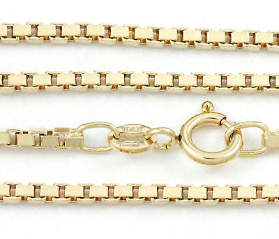 """16-24"""" 2.00mm 10k Yellow Gold Box Chain, (NEW solid Italian necklace) 2216"""