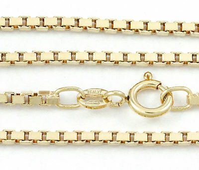 """16-24"""" 2.00mm 18k Yellow Gold Box Chain, (NEW solid Italian necklace) 2218"""