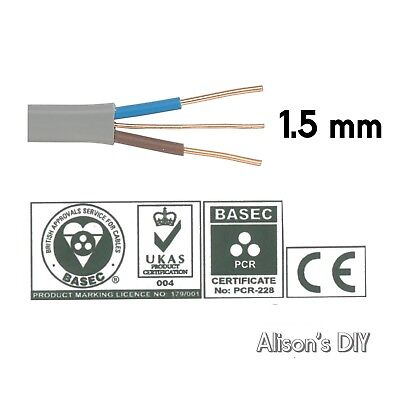 1.5 mm Twin and Earth T&E Electric Cable Wire | Domestic Electrical Lighting