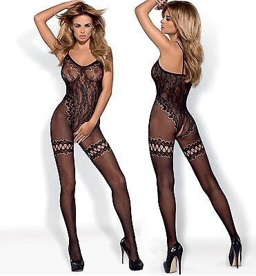 Bodystocking F213 Netz-Body Damen-Body in schwarz von Obsessive Dessous
