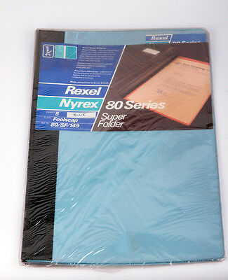 Rexel Nyrex 80 Series Super Folders 80/SF/149 Foolscap Blue Pack 5