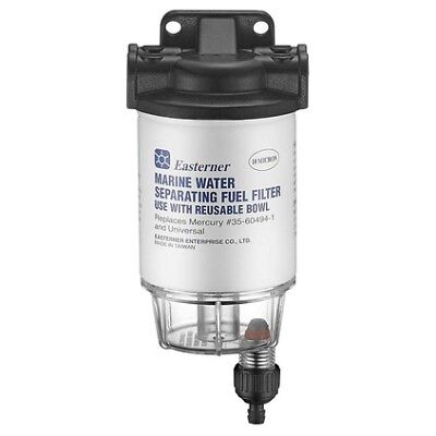 Eastener Fuel Filter - Mercury, With Clear Bowl
