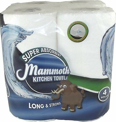 Pack of 24 Mammoth Kitchen Towel Paper Roll Quilted Super Absorbant