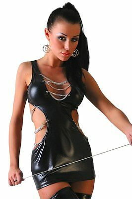 "Wetlook-Minikleid ""Escape"" mit String Negligé Kleid mit Ketten Lolitta Dessous"