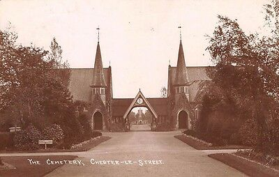 Durham - CHESTER LE STREET, The Cemetery, Real Photo - used 1913
