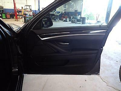 11 12 13 14 1 BMW 550i: Right Front Door Trim Panel Leather Black LCSW