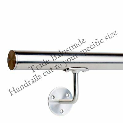 Stainless Steel Handrail Brushed Satin finish Grade 316 External & Internal use