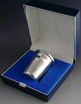 Sterling Silver Giant Thimble Whisky Tot Cup Measure 1976 Novelty Barware