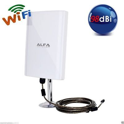 PDR*ANTENNA SCHEDA WIRELESS WIFI150Mbps USB ALTA POTENZA 98dBi PC FISSI NOTEBOOK