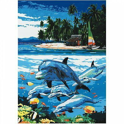 Royal & Langnickel Dolphin Island Painting By Number Artist Canvas Series