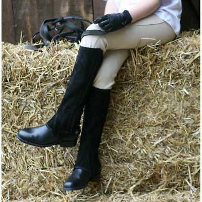 Tuffa Suede Half Chaps - 2 Colours - Adults Or Childs