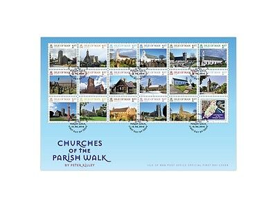 Churches of the Parish Walk First Day Cover (UJ91)
