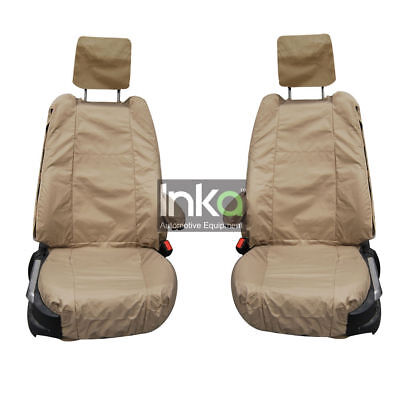 Range Rover L322 Vogue Front Inka Tailored Waterproof Seat Cover Beige MY07-12