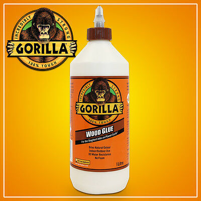 1 Litre Gorilla Wood Glue Super Strong Quality Waterproof Adhesive Carpentry Pva
