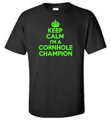 c06423f5fa0d CAFEPRESS CORNHOLE CHAMPION Dark T Shirt 100% Cotton T-Shirt ...