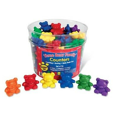 Learning Resources - Three Bear Family Counter Set - Rainbow Set of 96, 6 colour