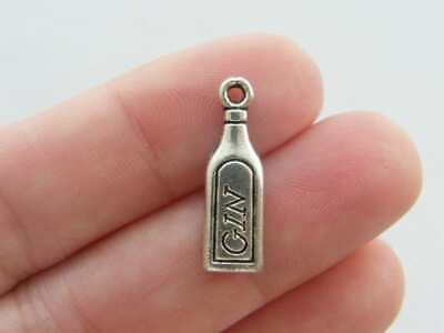 BULK 30 Bottle of gin charms tibetan silver FD27