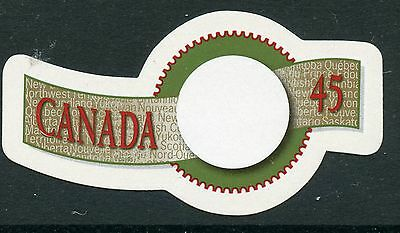 Weeda Canada 1568ii VF NH Die cut 45c Greetings single, from Annual Collection