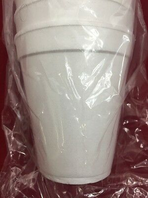 NEW CASE OF 1000 Commercial Hot & Cold Insulated Foam Drinking Cups 10oz.
