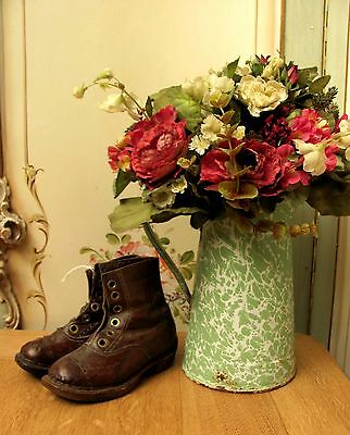 Delightful Pair Of Vintage French Childs Leather Boots - C1930