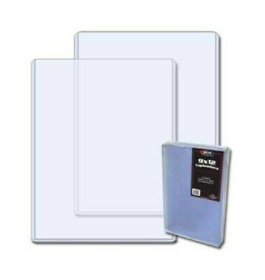 40 BCW 9 X 12 Photo /Print Rigid Topload Holders hard plastic protector sleeves