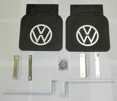 Mud Flap Kit Color Black With Vw Logo Fits Volkswagen All Type2 Bus