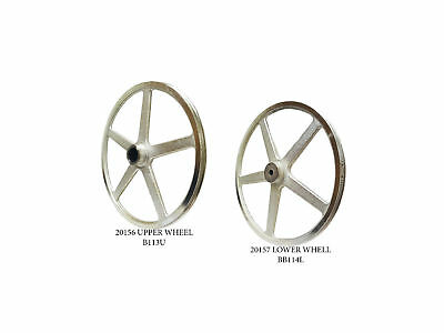 Butcher Boy SA20 UPPER AND LOWER BAND SAW WHEELS / PULLEYS NEW BB113U BB114L