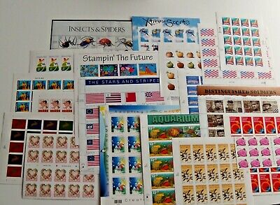Five (5) Sheets x 20 = 100 Assorted of Mixed Designs of 33¢ US PS Postage Stamps