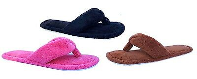 "New Ladies' Fashion Terry Spa Thong Flip Flop House Slipper Comfort--""3024"""