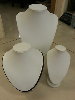 20 new necklace display stands in white colour