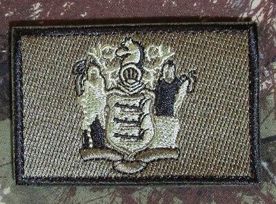 New Jersey State Flag Us Army Morale Forest Velcro® Brand Fastener Badge Patch