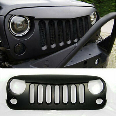 Angry Bird Matte Grille Grid Front Grill Rubicon Sahara 4 Jeep Wrangler JK 07-17