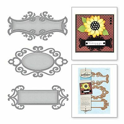 SPELLBINDERS SHAPEABILITIES cutting dies FANCY TAGS TWO Cuttlebug compatible