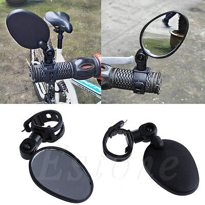 Universal Cycling Bike Bicycle Handlebar Rearview Mirror 360° Rotate Adjustable