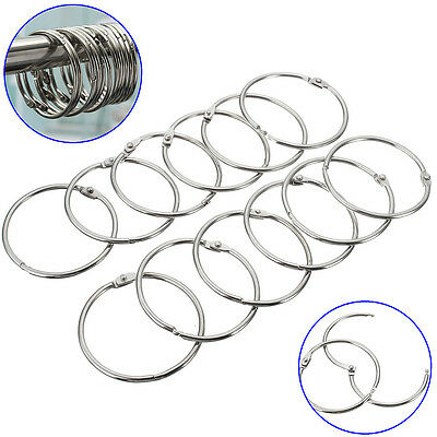 12Pcs Round Stainless Steel Shower Curtain Hooks Rings Anti Rust Magic FHLINGIR