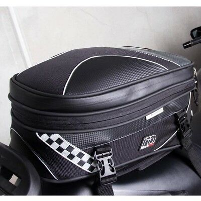 MotoDry NEW Expandable Pack Adventure Luggage 27L Black Motorcycle Seat Rear Bag