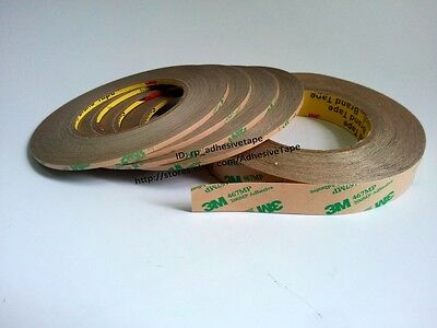 55M/Roll,0.06mm T, 3M 467MP Super Thin Heat Resist Two Sides Adhesive Clear Tape