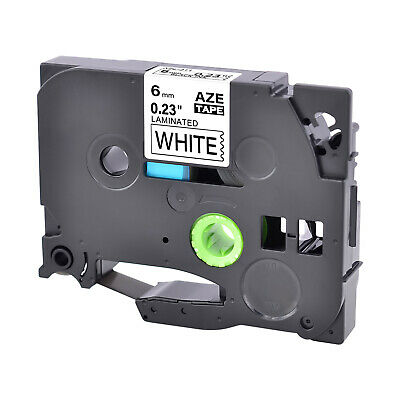 1PK 6mm Black on White Label Tape TZ TZe 211 For Brother P-touch PT-1100 PT-1880