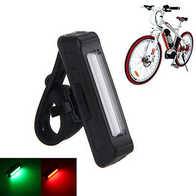 Waterproof USB Rechargeable COB Bicycle Bike Lamp Front Rear Tail LED Light Kit