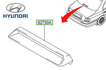 Genuine Hyundai Sonata High Brake Light - 927503D000LK