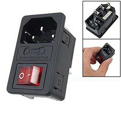 10A 250V Inlet Male Power Socket NO Fuse Switch 3 Pin IEC320 C14