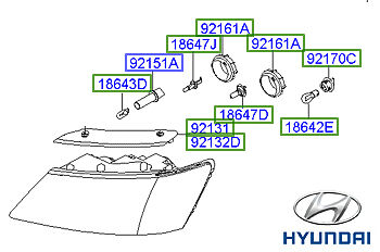Genuine Hyundai Sonata Headlight RH Drivers - 921023K580