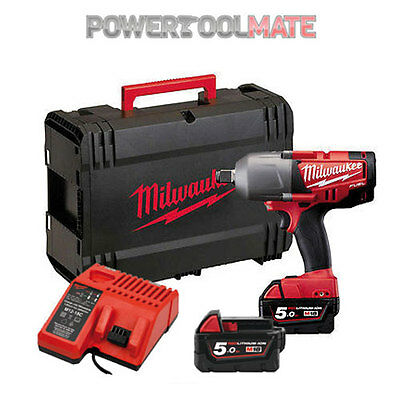 """Milwaukee M18CHIWF12-502X 18v FUEL 1/2"""" Impact Wrench - 2x 5Ah Batteries"""
