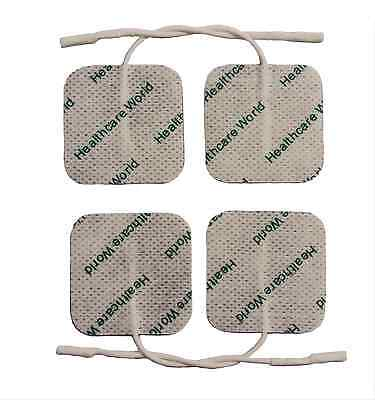 SUPER CONDUCTIVITY SQUARE REUSABLE TENS ELECTRODE PADS FOR TENS MACHINES 4 x 4cm