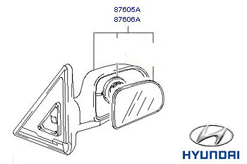 Genuine Hyundai Terracan Mirror, RH - 87640H1111