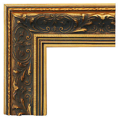 Wide Ornate Gold Gilt Wooden Picture Frame :: Hand-Made To Fit Our Canvas Prints