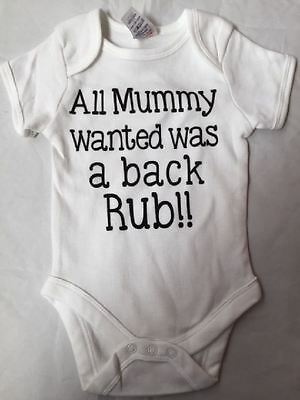 New Mischief Makers 'Mummy Wanted A Back Rub' Baby Bodyvest White